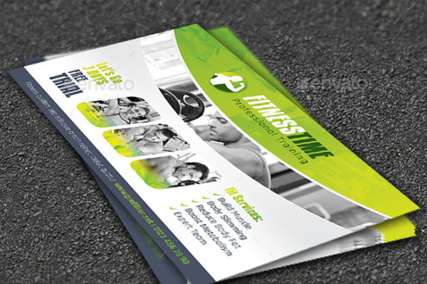 Premium Fitness Postcard Template