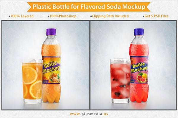 Premium Plastic Bottle Mockup