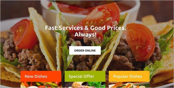 Premium Restaurant Landing Page Theme