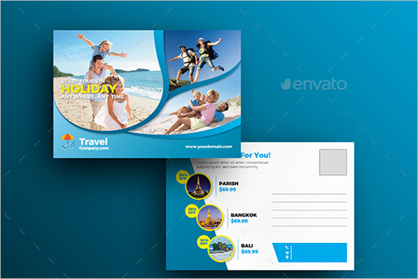 Premium Travel Postcard Template