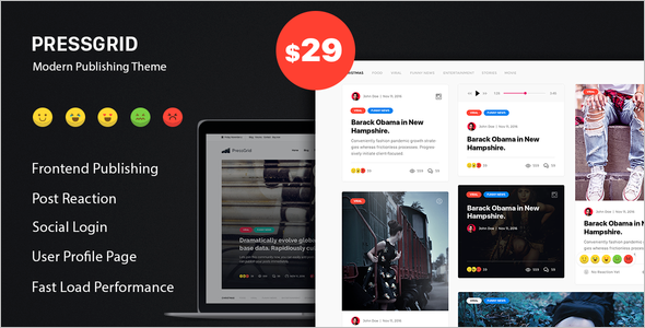 Press Multimedia WordPress Theme