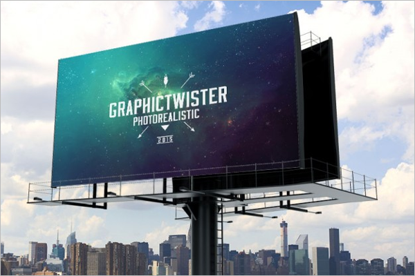 Printable Billboard Mockup PSD Design