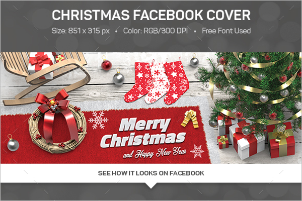 Printable Christmas Facebook Cover Template