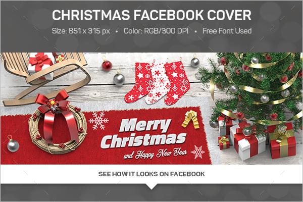 Printable Christmas Facebook Cover Template