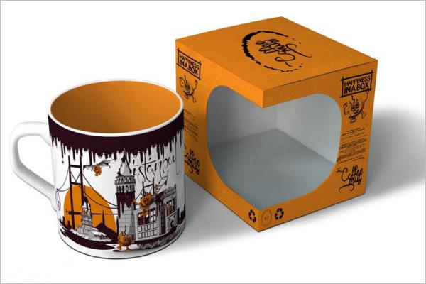 Printable Coffee Mug Gift Box Design