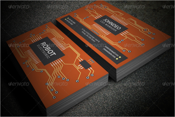 printable electronic business card design