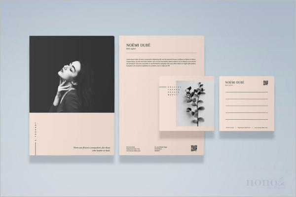 Printable Fashion Postcard Design
