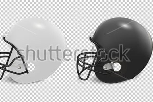 Printable Football Helmet Mockup