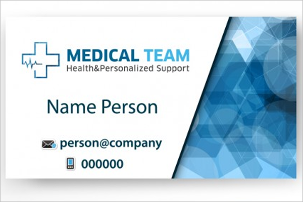 Printable Hospital Business Card