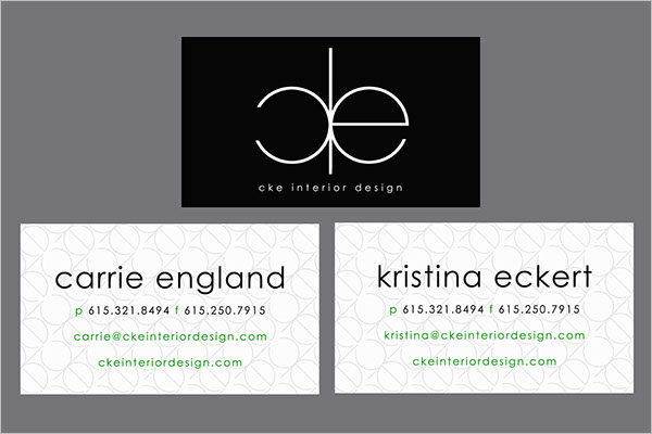Printable Interior Business Card