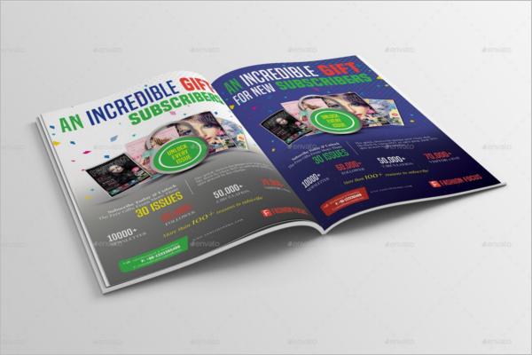 Printable Magazine Mockup Template