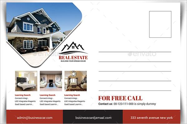 Printable Real Estate Postcard Design