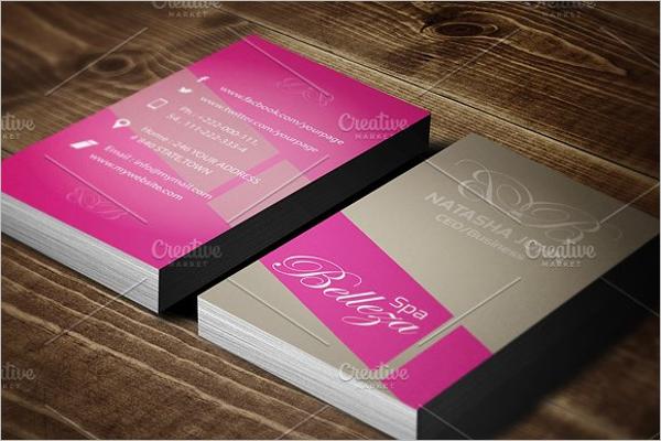Printable Salon Business Card Template