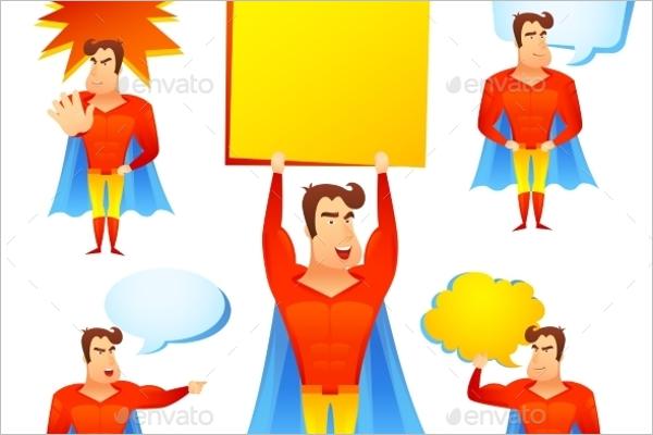 Printable Superhero Cartoon Template