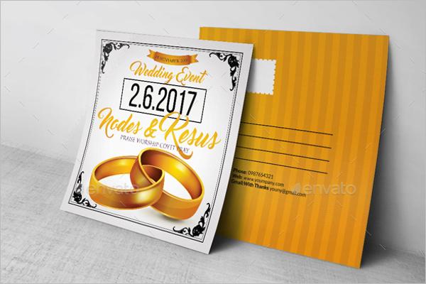 PrintReady Wedding Postcard Template