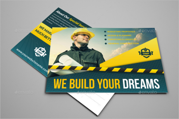 Professional Construction Business Postcard