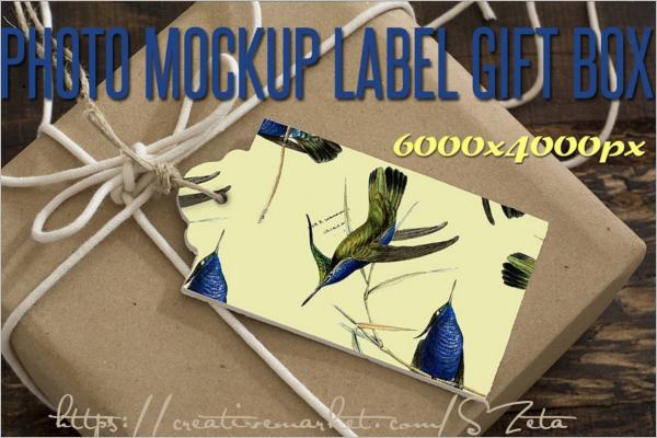 Professional Gift Box PSD Mockup