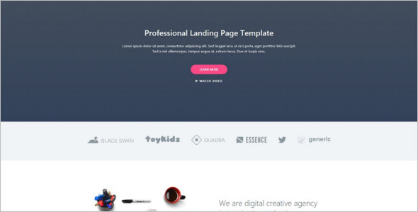 Professional Landing page Template