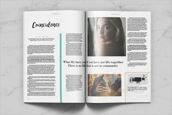 Professional Letter Magazine Mockup