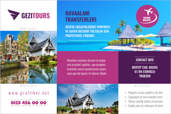 Professional Travel Postcard Template