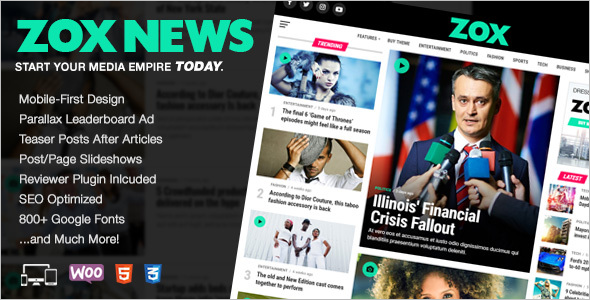 Professional WordPress News Theme