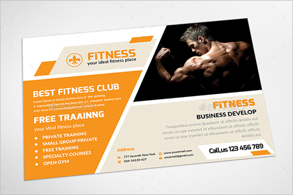 Promoting Fitness Postcard Template