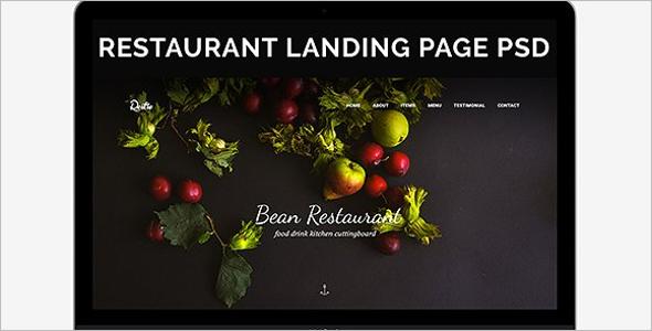 Pub & Restaurant Landing Page Template