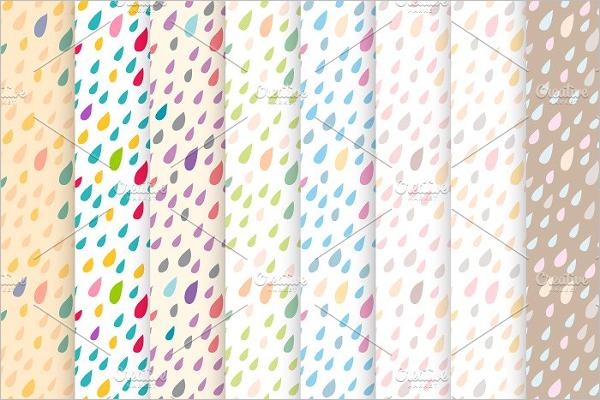 Rain Drops Seamless Pattern