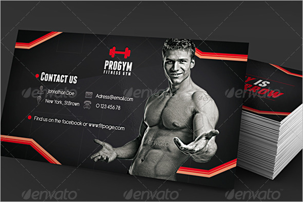 Ready To Print Gym Business Card