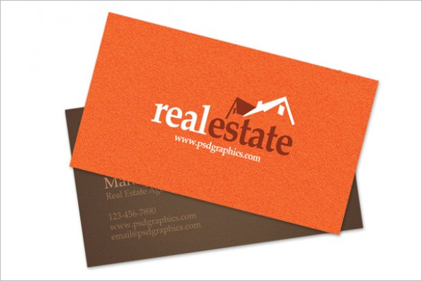 Ready To Print Real estate business card Template