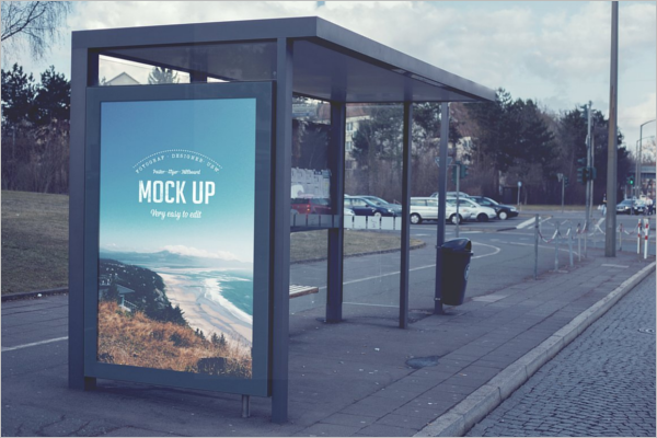 Real Billboard Mockup PSD Design