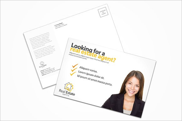 Real Estate Agent Postcard Template