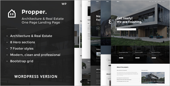 Real Estate Architecture Landing Page Theme
