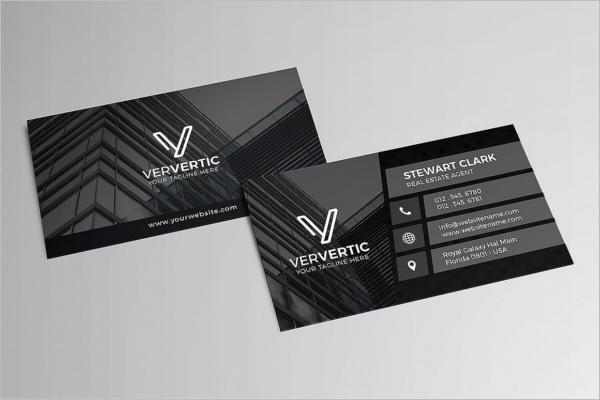 Real Estate Business Card Vector Design