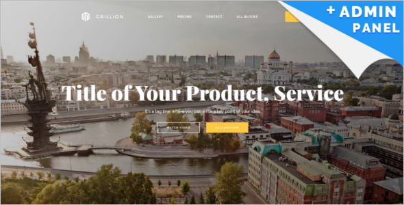Real Estate Business Landing Page Template