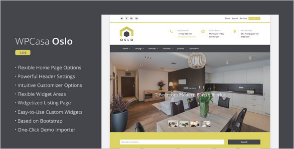 Real Estate Landing Page Design Theme