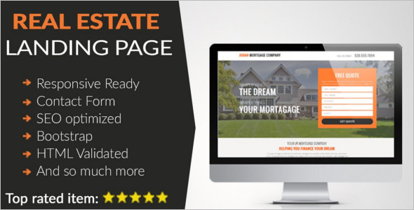 Real Estate Landing Page HTML Theme