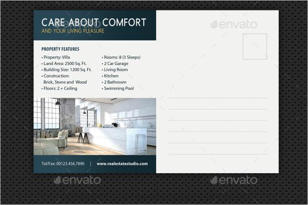 Real Estate Postcard Vector Design