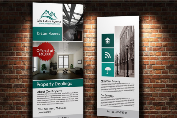 Real Estate Rack Card Template