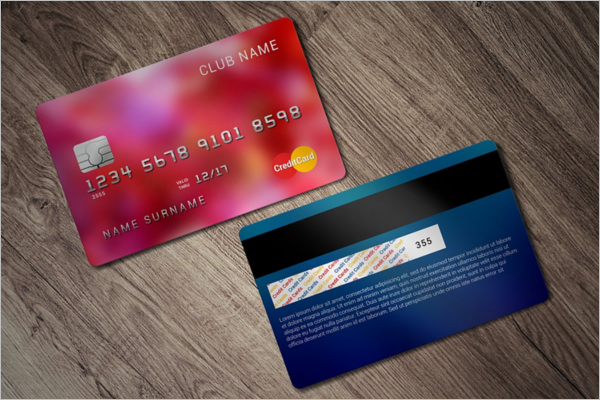 Realistic Credit Card Mockup Design