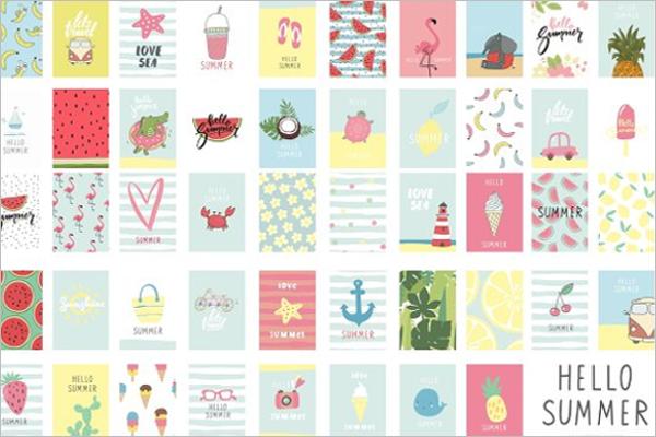 Realistic Ice Cream Post Card Template