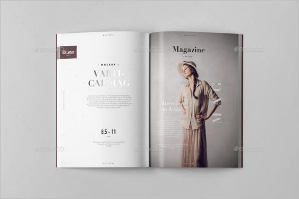 Realistic Letter Magazine Mockup