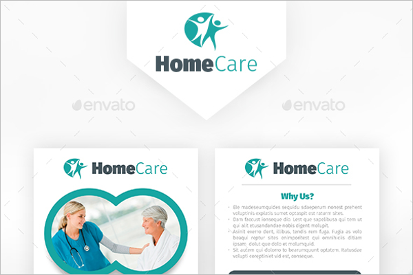 Realistic Medical Postcard Template