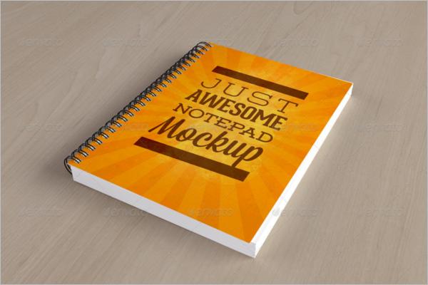 Realistic Notepad Mockup Design