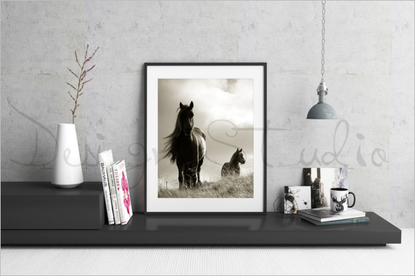 Realistic Photo Frame Template