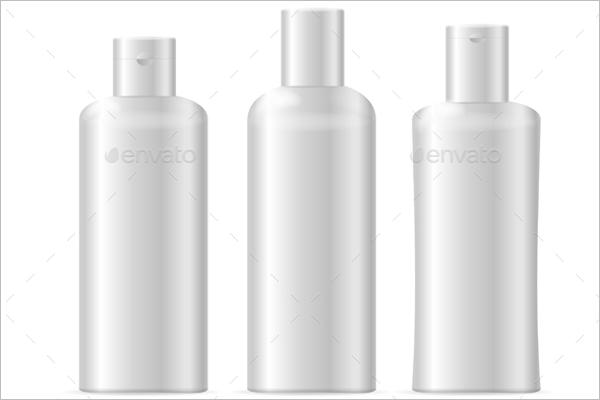Realistic Plastic Bottle Mockup