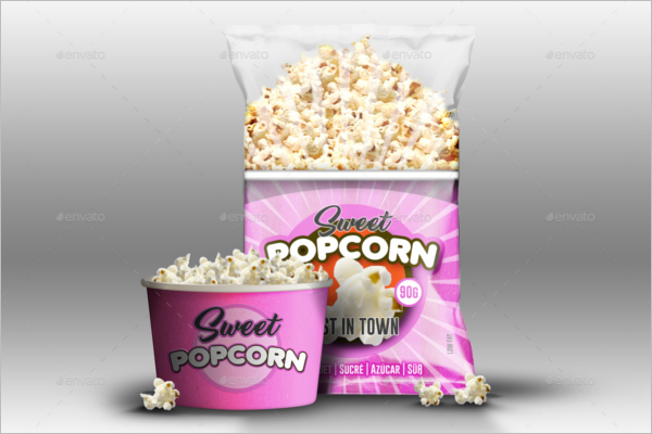 Realistic Popcorn Mock up