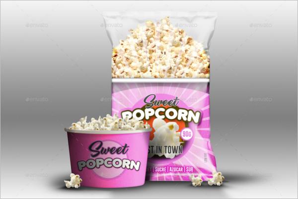 Realistic Popcorn Mock up