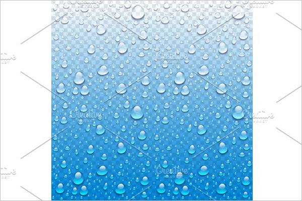 Realistic Rain Drop Design