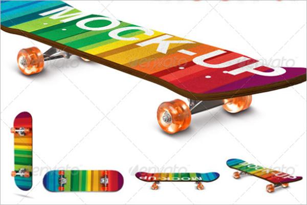 Realistic Skateboard Mockup Design